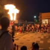 鳴海ハウジングセンターの夏祭りでファイヤーショー 愛知県名古屋市 2019年8月12日
